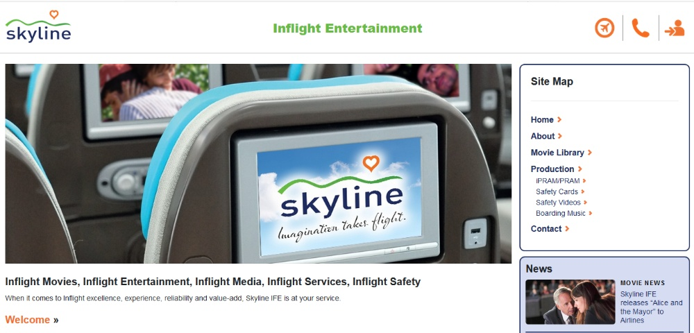 Skyline IFE releases new website